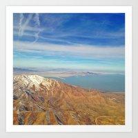 Flying over Utah Art Print