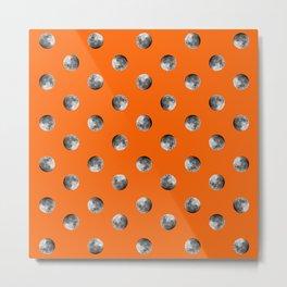 Lunar Moon - orange Metal Print