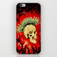 health iPhone & iPod Skins featuring MENTAL HEALTH - 025 by Lazy Bones Studios