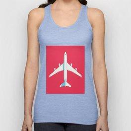 747 Jumbo Jet Airliner Aircraft - Crimson Unisex Tank Top