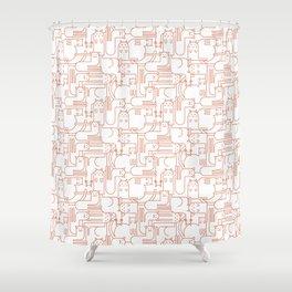 Cat Pattern – Cattern Shower Curtain