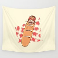 bread Wall Tapestries featuring Judge Bread by Timo Ambo