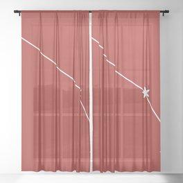 Aries (White & Maroon Sign) Sheer Curtain