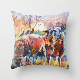 Early Rise Throw Pillow