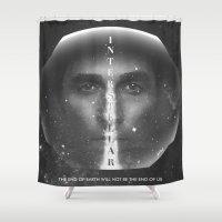 interstellar Shower Curtains featuring Interstellar  by Laura Racero