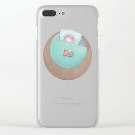 Sleepy A Clear iPhone Case