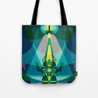 crocodile Tote Bags featuring Crocodile by youareconstance