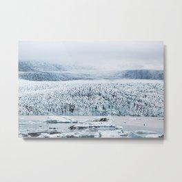 Fjallsarlon Iceberg Lagoon Metal Print