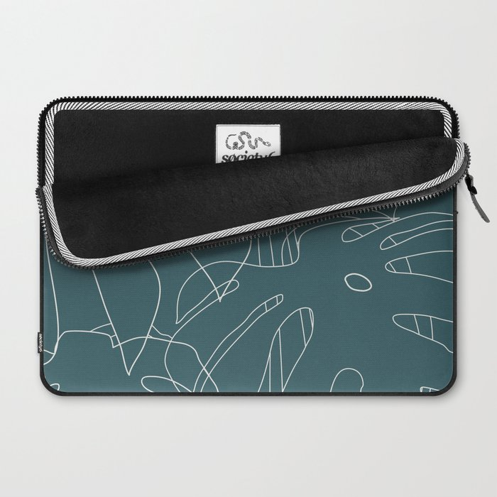Monstera No2 Teal Laptop Sleeve