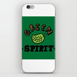 green spirit iPhone Skin
