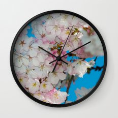 Underneath The Cherry Tree Wall Clock