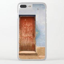 Havana Cuba Island Tropical Caribbean Latin Old Wooden Door Doorway Stucco Art Print Clear iPhone Case