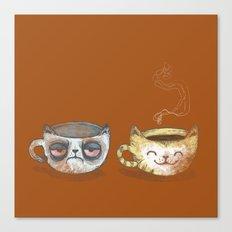 Grumpy Cup, Happy Cup Canvas Print