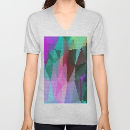 Stained Glass 3 Unisex V-Neck