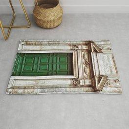 Marble Green Italian Doorway Photograph Rug
