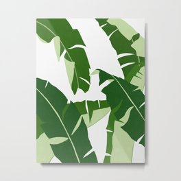 Tropical leaf illustration V Metal Print