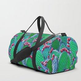 Flowering cacti Duffle Bag