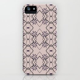 Blush Pink Purple Flower Patten Design iPhone Case