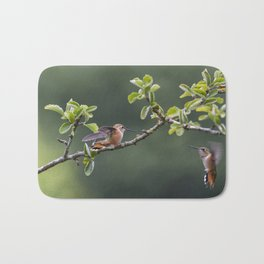 Rufous Hummingbird at Large, No. 2 Bath Mat