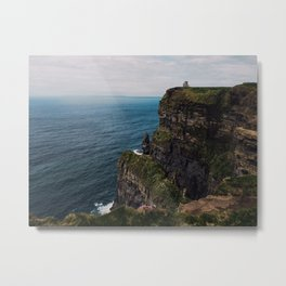 Cliffs of Moher castle Metal Print
