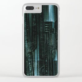 HR Giger Textures Clear iPhone Case