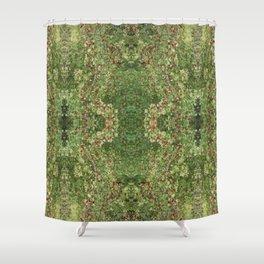 Hawthorn B Fractal Side Shower Curtain