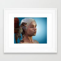 mother of dragons Framed Art Prints featuring Mother of Dragons by Apt108