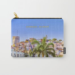 Santa Ana Hill, Guayaquil Poster Print Carry-All Pouch