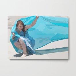 Breezy Blue Metal Print