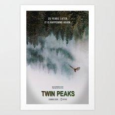 Twin Peaks, 25 Years Later Art Print