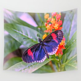 Red Postman Butterfly Wall Tapestry