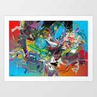 archan nair Art Prints featuring Microcrystalline Tendrils by Archan Nair