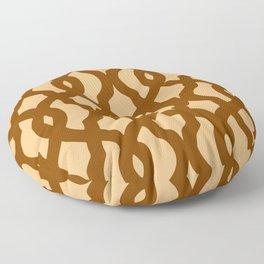Grille No. 2 -- Orange Floor Pillow