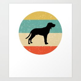 Redbone Coonhound Dog Gift design Art Print