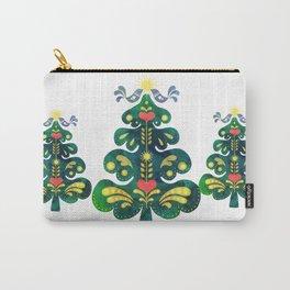 Traditional Scandinavian Folk Art Tree Carry-All Pouch