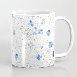 blue abstract hydrangea pattern Coffee Mug