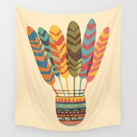 rustic Wall Tapestries featuring Rustic shuttlecock by Picomodi