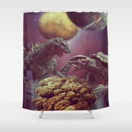 Godzilla VS Gamora  Shower Curtain