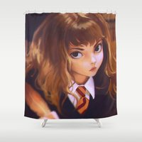 hermione Shower Curtains featuring Hermione by Mightymike