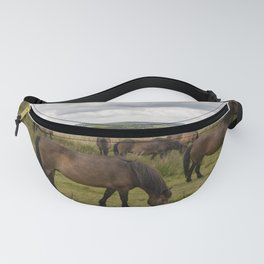 Exmoor Ponies at Winsford Hill  Fanny Pack