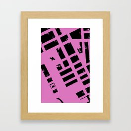 MAPSTRACT SERIES NO.1 (STOCKHOLM DETAIL) Framed Art Print