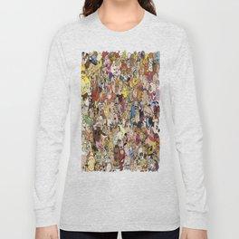 Cartoon Collage Long Sleeve T-shirt
