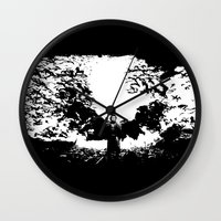 dracula Wall Clocks featuring Dracula by Panda Cool