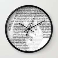 notorious big Wall Clocks featuring Notorious B.I.G. by Ricky Riccardo