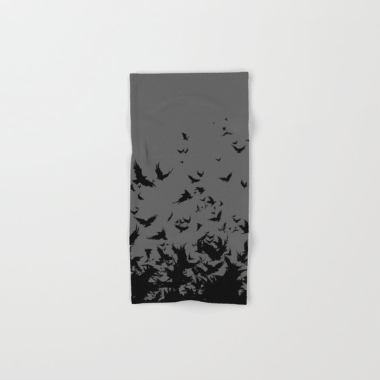 An Unkindness of Ravens (Grey) Hand & Bath Towel
