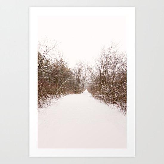 the quiet miles Art Print