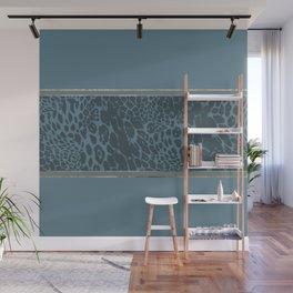 Blueprint and Animal texture 1 Wall Mural