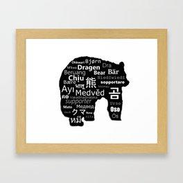 Bear Language Framed Art Print