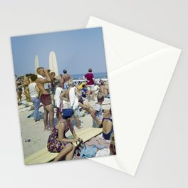 1970's Surfing Competition in Virginia Beach, VA Stationery Cards