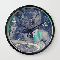 twilight Wall Clocks featuring TWILIGHT by Steven Kline